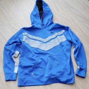 Nike Therma Fit Men's Hoodie XL Blue Polyester